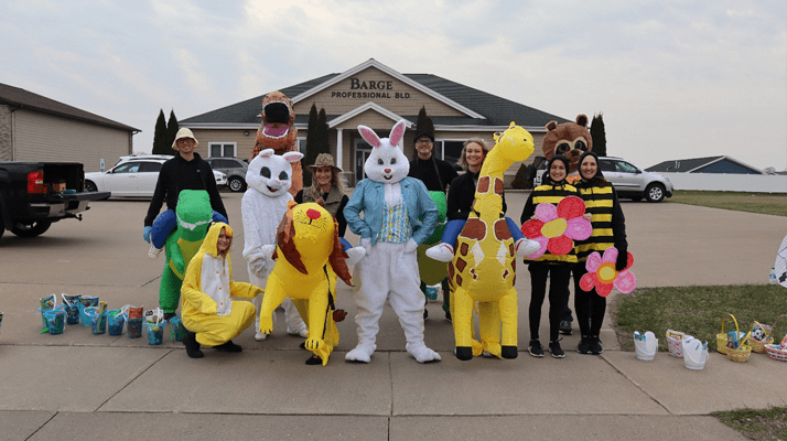 Barge Berkley Chiropractic Clinics drive by easter full staff